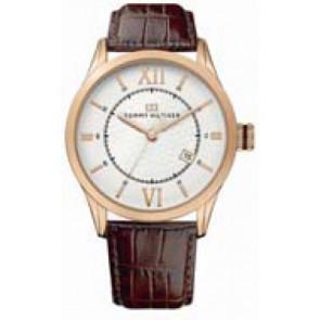 Pulseira de relógio Tommy Hilfiger TH-85-1-34-0816 - TH679301079 Couro Marrom 21mm