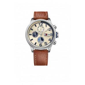 634a76e8e11 Pulseira de relógio Tommy Hilfiger TH-102-1-14-2038   TH679301952 Couro  Conhaque 22mm