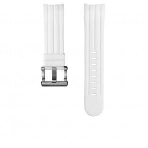 Pulseira de relógio TW Steel TWB133 Borracha Branco 24mm