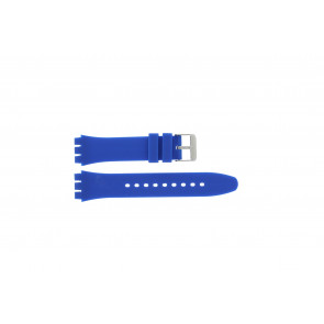 Tzevelion pulseira de relogio Tzev-SW Silicone Azul 18mm