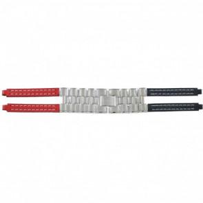 Tommy Hilfiger pulseira de relógio F80132 / 1780068 Couro Vermelho / Azul 4mm
