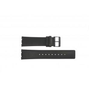 Pulseira de relógio Obaku V137 Couro Preto 23mm