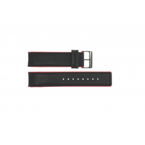 Pulseira de relógio Obaku V141 Couro Preto 22mm