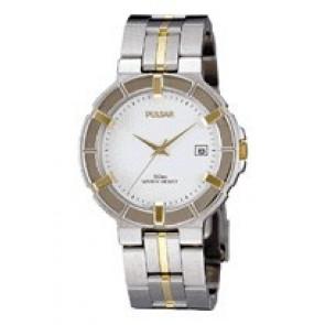 Pulsar pulseira de relogio V732-0330  Aço inoxidável Bicolor 8mm