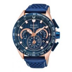 Pulseira de relógio Pulsar VK63-X001-PU2082X1 Couro Azul