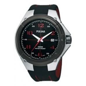Pulseira de relógio Pulsar VX42-X283-PXH797X1 Couro Preto