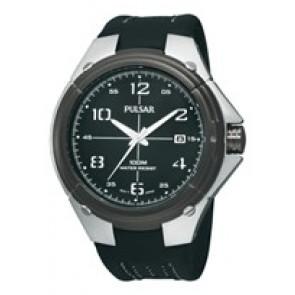 Pulseira de relógio Pulsar VX42-X283-PXH799X1 Couro Preto
