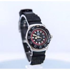 Pulseira de relógio Tag Heuer WA1411 Borracha Preto 15mm