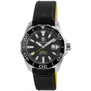 Pulseira de relógio Tag Heuer WAY211A / FT6068 Borracha Preto 21mm