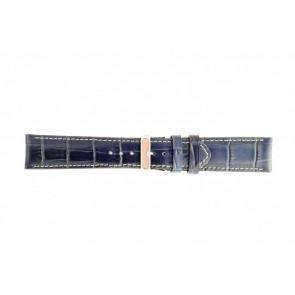Pulseira de relógio Universal 61324-50-32 Couro Azul 30mm