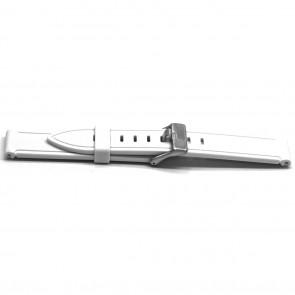 Pulseira de relógio Universal XH21 Borracha Branco 22mm