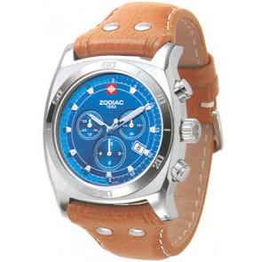 Pulseira de relógio Zodiac ZO7012 Couro Conhaque
