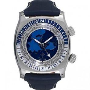Pulseira de relógio Zodiac ZO7000 Couro Azul 26mm