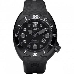 Pulseira de relógio Zodiac ZO8010 Borracha Preto 24mm