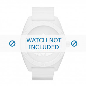 Adidas pulseira de relogio ADH2711 Borracha Branco 24mm