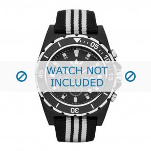 Adidas pulseira de relogio ADH2664 Textil Preto 24mm + costura padrão