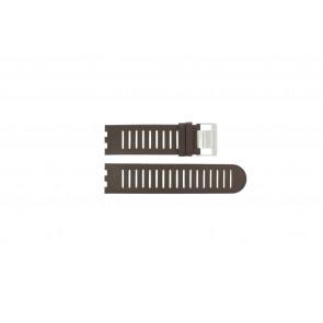 Alessi pulseira de relogio AL14001 Couro Marrom 25mm