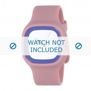 Alessi pulseira de relogio AL10023 Borracha / plástico Rosa