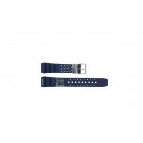 Tzevelion pulseira de relogio TZE-S285 / Citizen Borracha Azul 22mm
