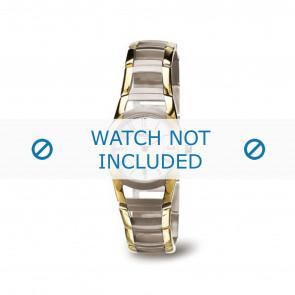 Boccia pulseira de relógio 3140-02 Titânio Dourado 22mm