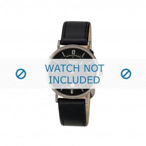 Boccia pulseira de relógio 3154 Couro Preto 16mm