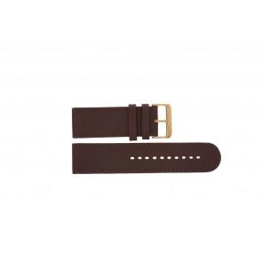 Prisma pulseira de relogio DBR27 Couro Marrom 27mm + costura marrom