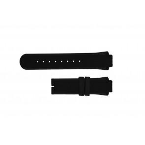 Breil pulseira de relogio TW0450 / TW0455 Borracha Preto 16mm