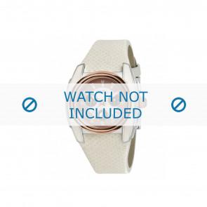Breil pulseira de relogio BW0383 / F260053231 / BW0384 Couro Branco 25mm