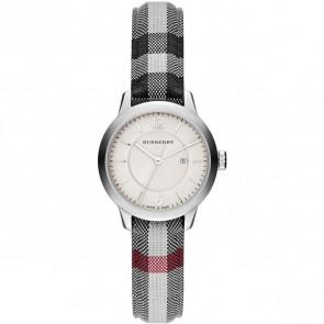 Pulseira de relógio Burberry BU10103 Couro/Textil Cinza