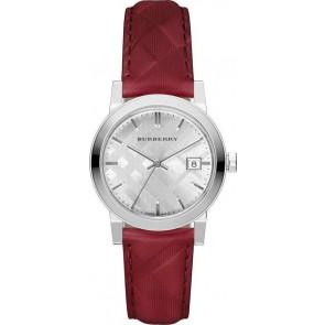 2cbd8c3df70 Pulseira de relógio Burberry bu9152 Couro Vermelho