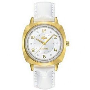 Pulseira de relógio Lacoste 2000604 / LC-47-3-34-2234 Couro Branco 18mm
