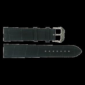 Certina pulseira de relogio C600015907 21/18MM Couro Preto 21mm + costura preto