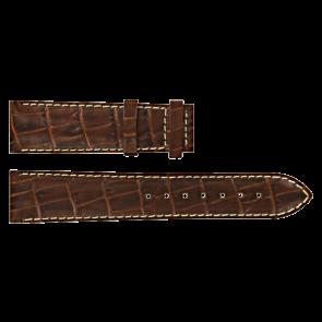 Certina pulseira de relogio C610007728 / C61040201 / C536.7029.42.69 Couro Marrom 20mm + costura branca
