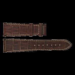 Certina pulseira de relogio C610011091 Couro Marrom 23mm + costura branca