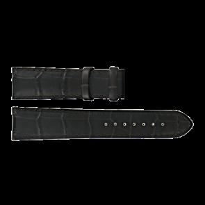 Certina pulseira de relogio C610015781 Couro Castanho escuro 21mm + costura marrom