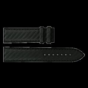 Certina pulseira de relogio C610016427 Couro Preto 21mm + costura preto