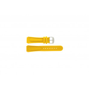 Pulseira de relógio Camel 0980-0989 / 0990-0999 Couro Amarelo 18mm