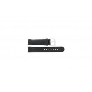 Camel pulseira de relógio 4040-4059 Carbono Preto 18mm + costura preto