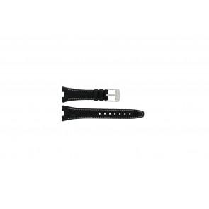 Camel pulseira de relógio 6000-6007 Couro Preto 22mm + costura branca