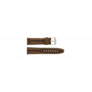 Camel pulseira de relógio 6720-6729 / 6760-6769 Couro Castanho 22mm + costura branca