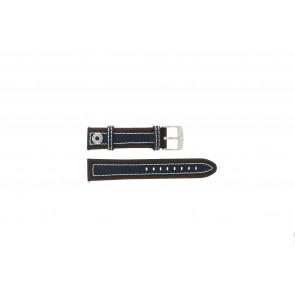 Camel pulseira de relógio 3120-3129 / 3520-3529 Couro Castanho 22mm + costura branca