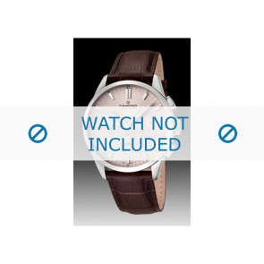 Candino pulseira de relogio C4517-1 Couro Marrom + costura marrom