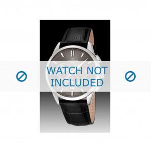 Candino pulseira de relogio C4517-2 Couro Preto + costura preto