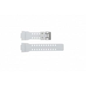 Pulseira de relógio Casio GA-100A-7AW Silicone Branco 22mm