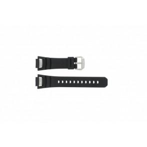 Pulseira de relógio GS-1000J-1A / 10212982 / 10332054 Silicone Preto 16mm