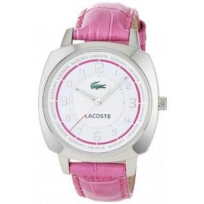 Pulseira de relógio Lacoste 2000599 / LC-47-3-14-2233 Couro croco Rosa 18mm