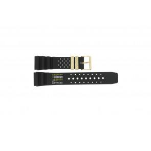 Pulseira de relógio Universal CMT-22-DBL Borracha Preto 22mm