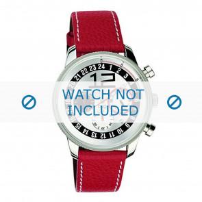 Dolce & Gabbana pulseira de relogio 3719740276 Couro Vermelho + costura branca