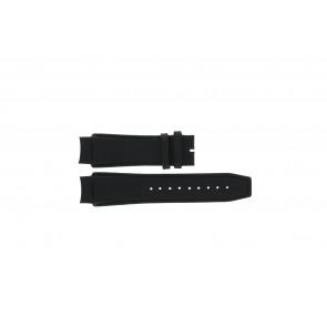 Dolce & Gabbana pulseira de relogio 3719770097 Couro Preto 20mm + costura preto