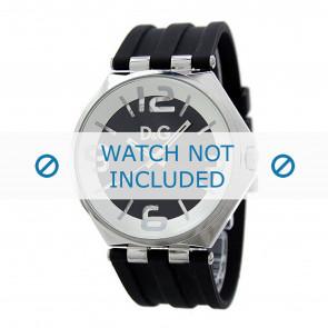 Dolce & Gabbana pulseira de relogio DW0582 Borracha Preto